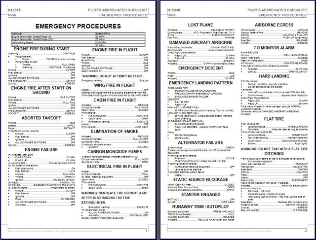 custom checklist alpha zulu aerosports
